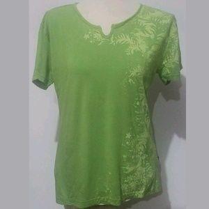 Kuhl Women's Knit T-shirt Tee XLGreen